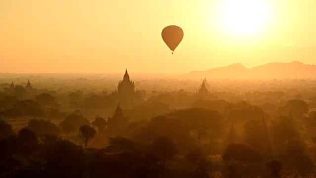 Luft Ballons Tempel von Bagan – Video