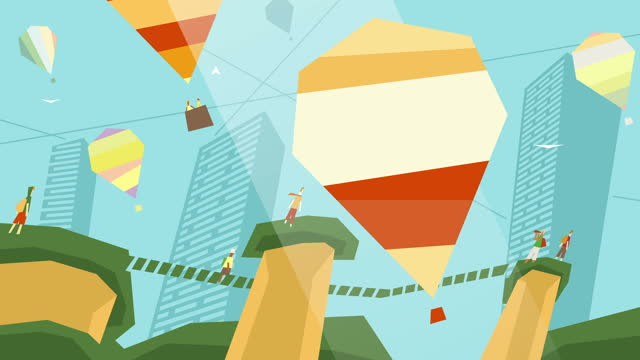 Air Balloons Parade Animation Background video