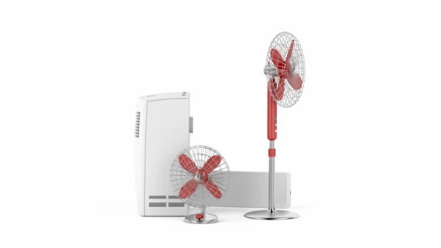 エアコン、扇風機 - 加湿器点の映像素材/bロール
