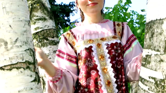Air kiss a young Russian girl with birch Air kiss a young Russian girl with birch. russian ethnicity stock videos & royalty-free footage