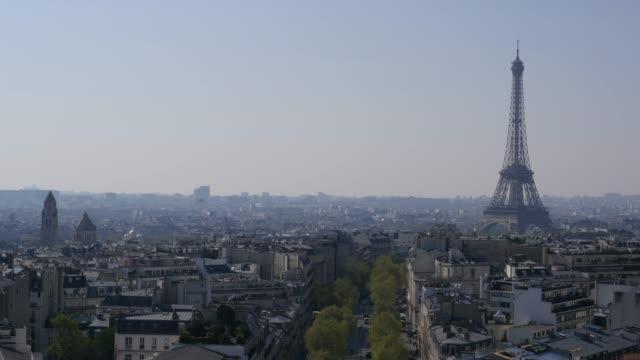 Air Pollution, Fog, Eiffel tower, Paris, France