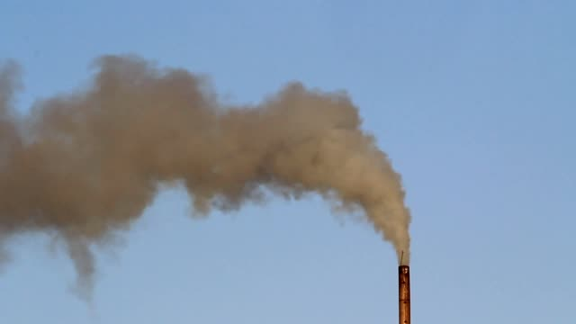 Air Pollution from a smoke of industrial plant video