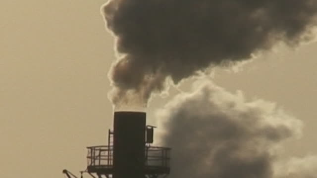 Air pollution Air pollution - chemical factory chimney - HD 1080 pipe connector stock videos & royalty-free footage