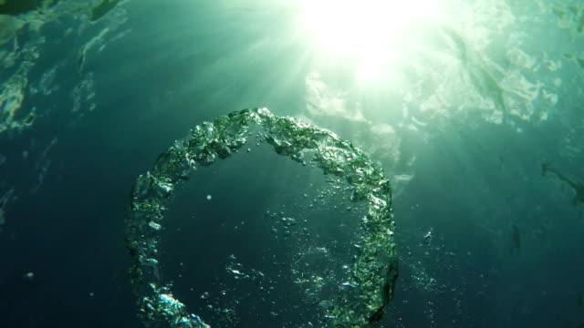 Air ring,scuba diving video