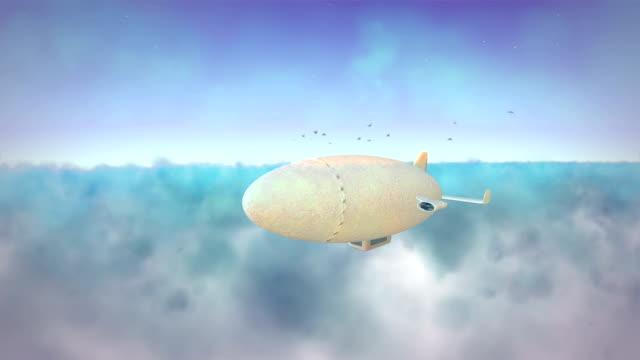 Air ship fantasy travel video