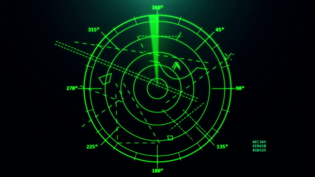 Air traffic control radar. Airport air traffic control radar. Screen. Monitor. Flight control. Security navigational compass stock videos & royalty-free footage