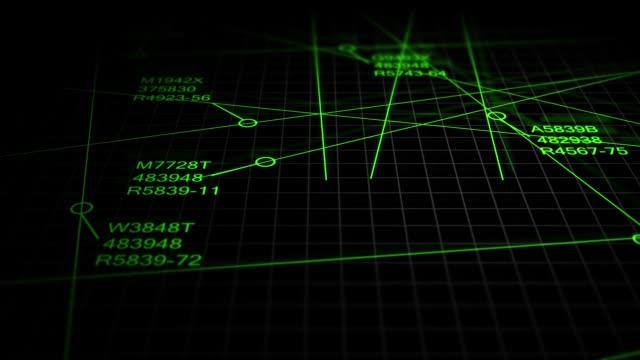 Air Traffic Control Software Tracking Inbound Outbound Flights - Motion Graphics - Green Modern Version - V1 - vídeo