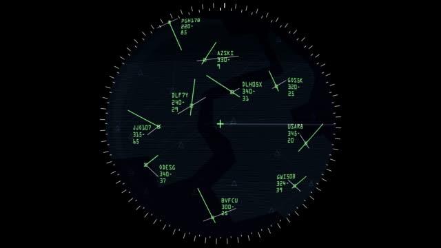 Air Traffic Controller Screen video