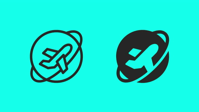 Air Travel Icons - Vector Animate