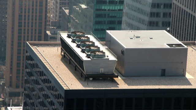 Airco unit on a skyscraper video