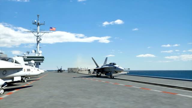 aircraft carrier - bära bildbanksvideor och videomaterial från bakom kulisserna