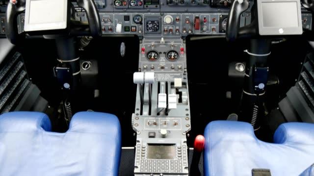 aircraft cockpit of piaggio p180 avanti twin propellers turboprop - {{relatedsearchurl(carousel.phrase)}} video stock e b–roll