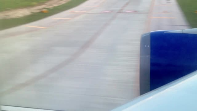 Aircraft landing at the evening video