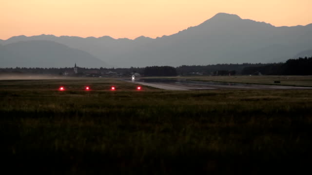 aircraft taking off a small airfield video