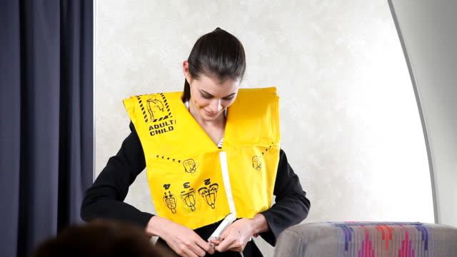 Airline Flight Attendant - Life Vest video