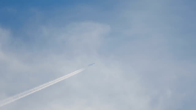Airliner flying high video