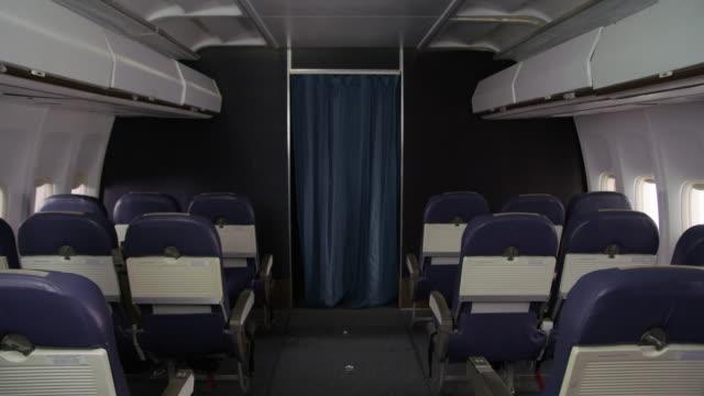 samolot interor bez ludzi - kabina filmów i materiałów b-roll