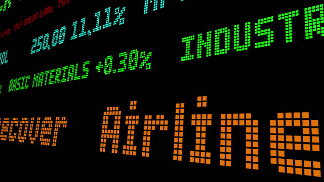 Airlines race to recover stock ticker video