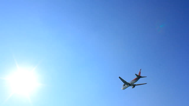 Airplane and blue sky video