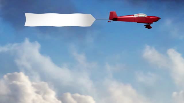 flugzeug-banner (3. - spruchband stock-videos und b-roll-filmmaterial