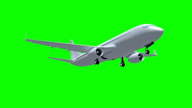 flygplan flyger på grön skärmbakgrund. - airplane bildbanksvideor och videomaterial från bakom kulisserna