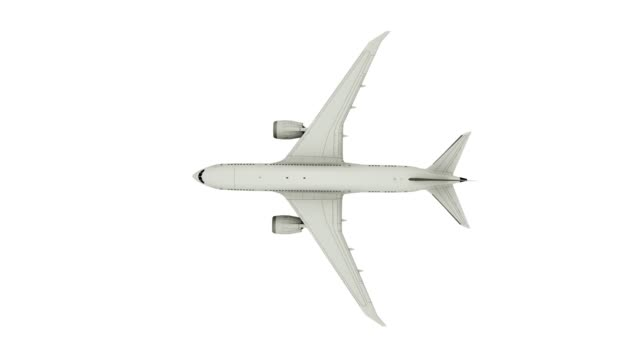 Airplane flying, isolated on white background, top view. Alpha Channel Included Airplane flying, isolated on white background, top view. Alpha Channel Included. private airplane stock videos & royalty-free footage