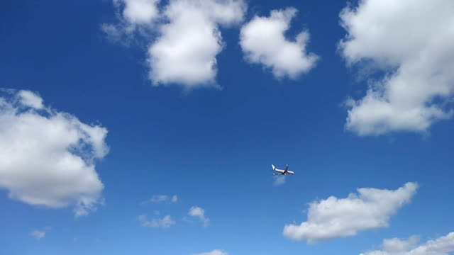Airplane Flying Low for Landing Airplane Flying Low for Landing florida us state stock videos & royalty-free footage