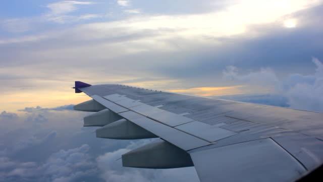 airPlane flying Sky on cloud nimbus strom video