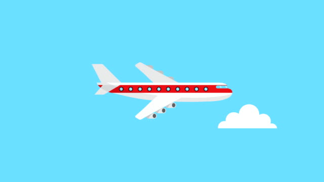 airplane flying transport video animation video