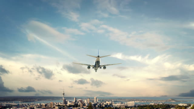 Airplane Landing Auckland New Zealand video
