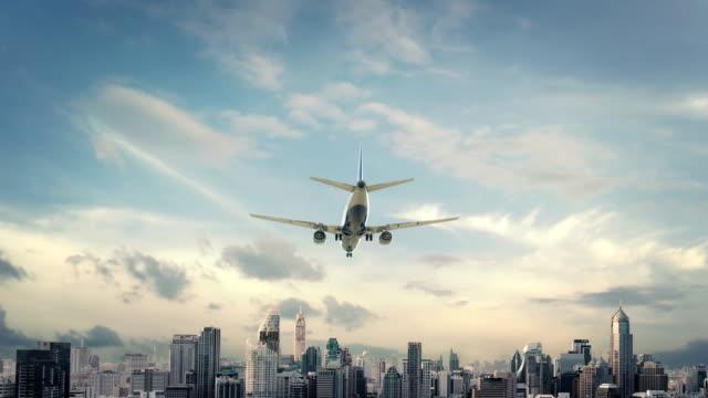 Airplane Landing Bangkok Thailand video