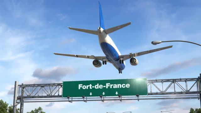Airplane Landing Fort-de-France