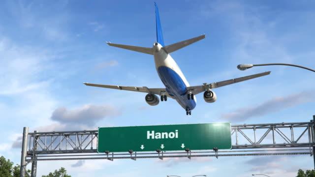 vídeos de stock, filmes e b-roll de avião pouso hanoi - característica arquitetônica