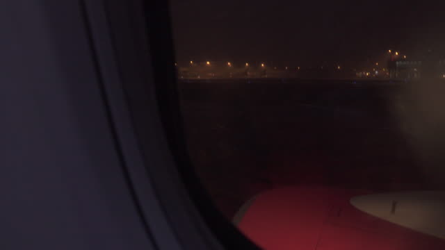 Airplane landing in the storm video