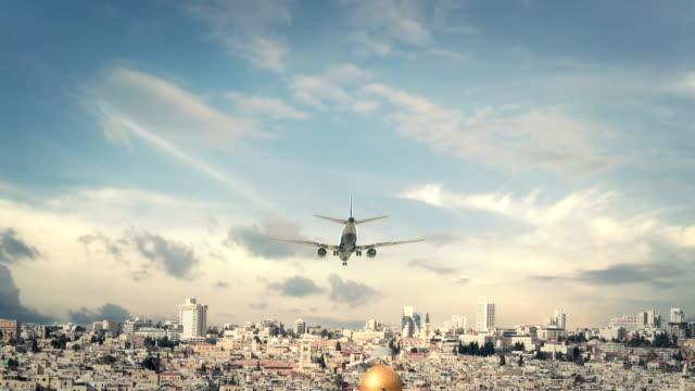 Airplane Landing Jerusalem Israel video