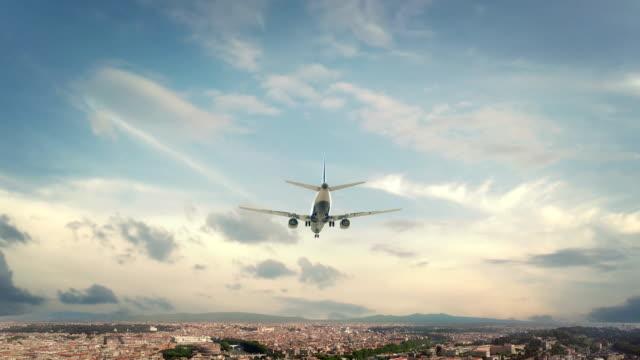 Airplane Landing Rome Italy video