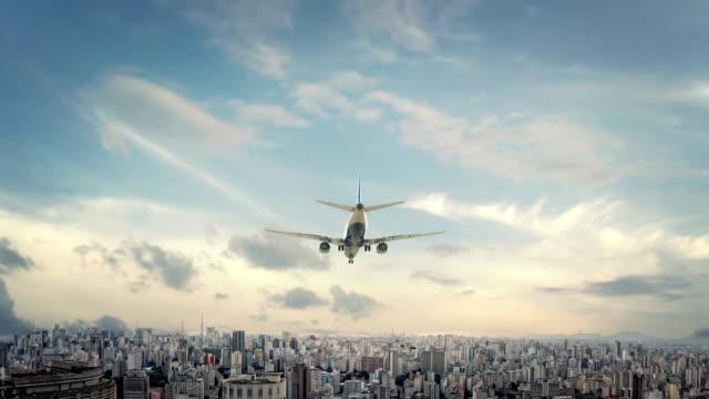 Airplane Landing Sao Paulo Brazil video