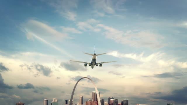Airplane Landing Seattle St. Louis Missouri video