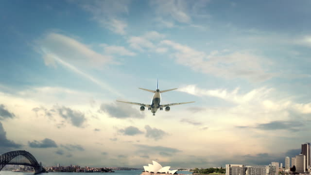 Airplane Landing  Sydney Australia video