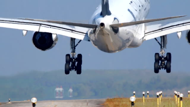airplane landing. - business travel stock videos and b-roll footage