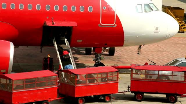 Airplane Loading luggage video
