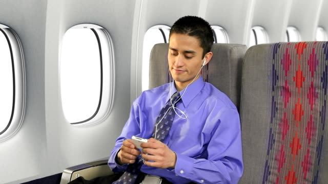 Airplane Passenger Listening To Music video