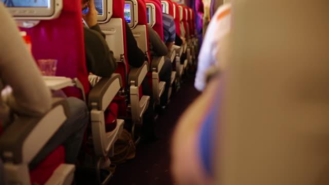 Airplane passenger vehicle seat video