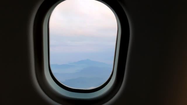Airplane Passenger POV Window Mountains