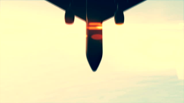 Airplane passing overhead. video