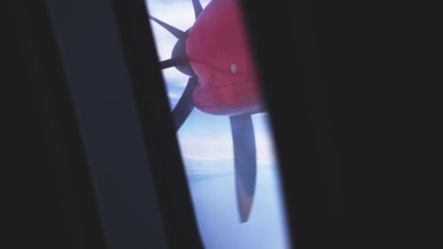Airplane Propeller Engine through Window video
