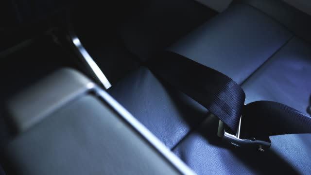 Airplane Seat Belt Close-Up video