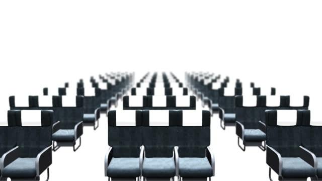 항공기 좌석 행 - airplane seat 스톡 비디오 및 b-롤 화면