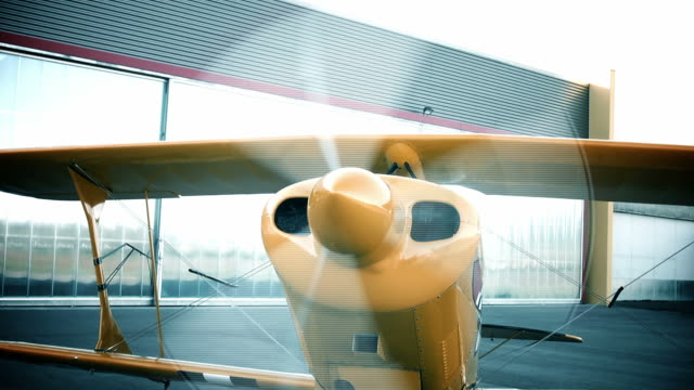 Airplane starting prop Pitts Airplane starting prop right before start-with sound propeller airplane stock videos & royalty-free footage