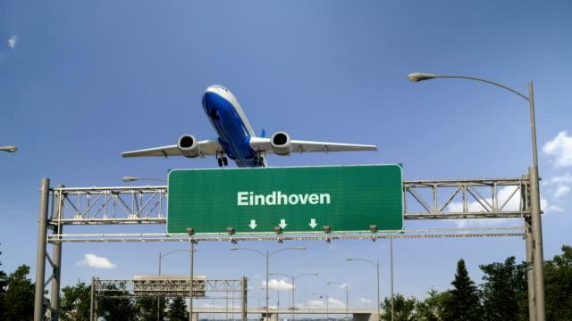 stockvideo's en b-roll-footage met vliegtuig opstijgen eindhoven - eindhoven